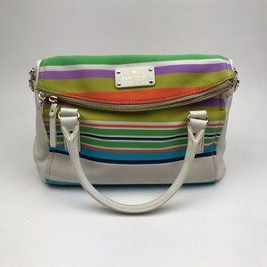 Kate Spade Multi Color Stripe Canvas Leather Purse